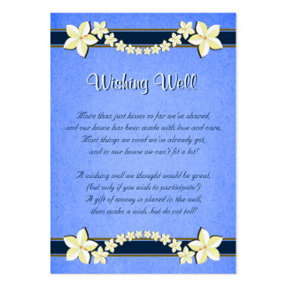 Boda floral azul rústico que desea tarjetas bien tarjetas de visita grandes