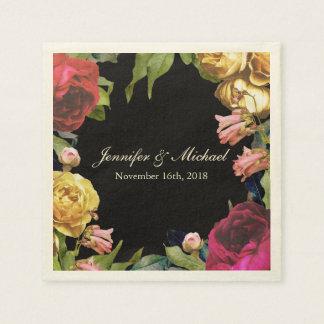 Boda floral colorido del arte servilletas de papel