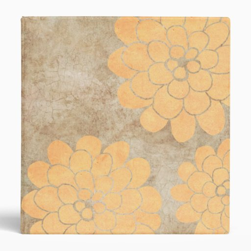 """Boda floral de la dalia amarilla limón del vintage carpeta 1 1/2"""""""