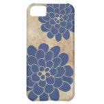 Boda floral de la dalia azul del vintage