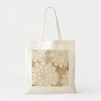 Boda floral de la dalia blanca del vintage bolsa