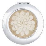 Boda floral de la dalia blanca del vintage espejos de maquillaje