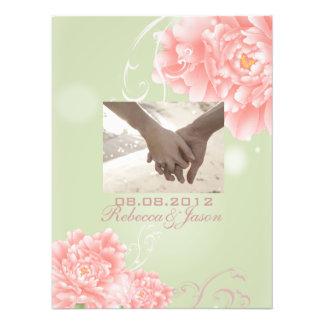 boda floral de la primavera de los Peonies elegant Impresión Fotográfica