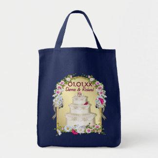 Boda floral de la torta bolsa tela para la compra