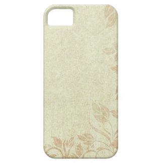 Boda floral de la vid de Viintage del oro antiguo Funda Para iPhone 5 Barely There