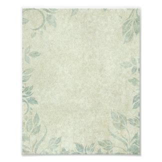 Boda floral de la vid del vintage azul arte con fotos