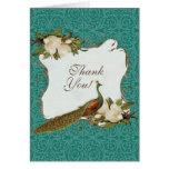 Boda floral del damasco del remolino de la magnoli felicitaciones