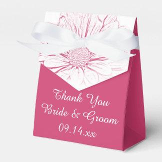 Boda floral del efecto rosado de la margarita cajas para regalos