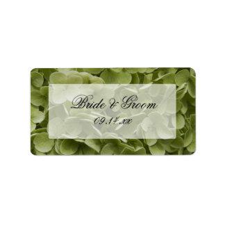 Boda floral del Hydrangea verde de Annabelle Etiqueta De Dirección