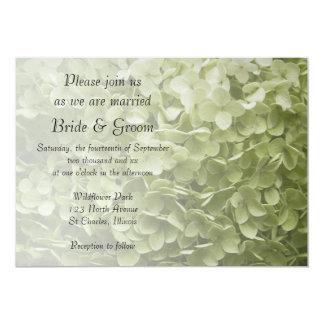"""Boda floral del Hydrangea verde de Annabelle Invitación 5"""" X 7"""""""