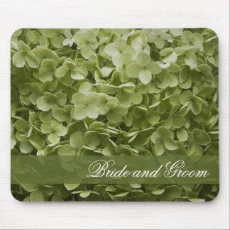 Boda floral del Hydrangea verde de Annabelle Mouse Pad