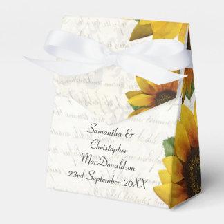 Boda floral del país amarillo elegante del girasol cajas para regalos