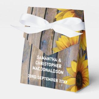 Boda floral del país amarillo rústico del girasol caja para regalos de fiestas