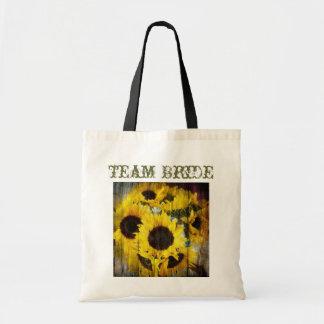 boda floral del país de los girasoles amarillos el bolsas de mano