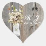 boda floral del país del wildflower elegante del calcomanías corazones personalizadas