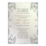 boda floral del pavo real de la perla elegante del comunicado personalizado