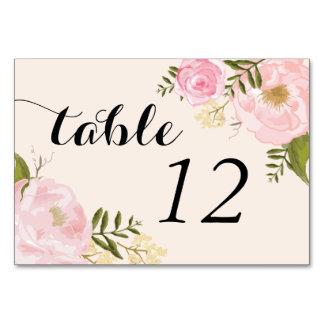 Boda floral del rosa moderno del vintage