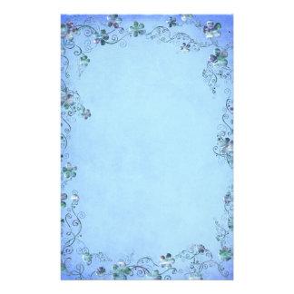 Boda floral del vintage azul  papeleria