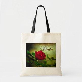 boda floral elegante del país del rosa rojo del vi bolsa de mano