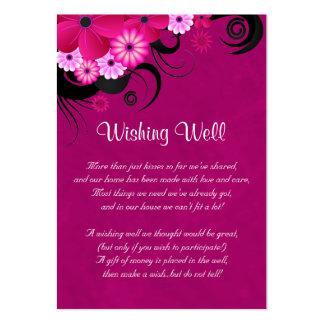 Boda floral fucsia del hibisco que desea tarjetas tarjetas de visita grandes