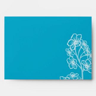Boda floral moderno azul del este