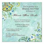 Boda floral moderno del remolino del Flourish de Invitaciones Personales