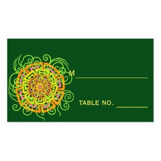 Boda floral rústico moderno de la flor de la fruta tarjetas de visita