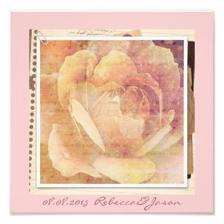 boda floral subió rosa romántico de la primavera d impresiones fotográficas