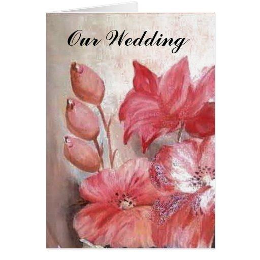 boda floral tarjetas