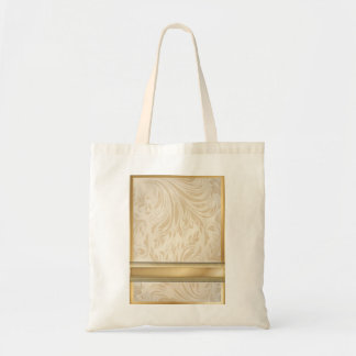 Boda formal del damasco del oro del champán bolsa tela barata