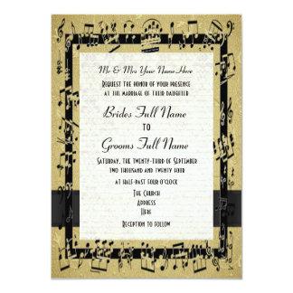 """Boda formal elegante de oro elegante de la hoja de invitación 4.5"""" x 6.25"""""""