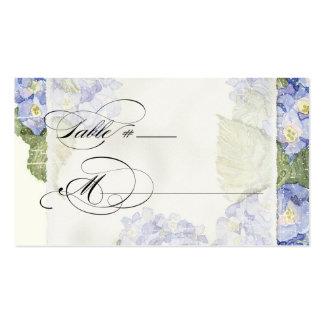 Boda formal floral del soporte azul del Hydrangea Tarjetas De Visita