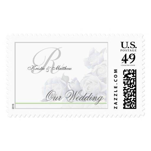 Boda formal - rosas blancos románticos sellos