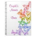 Boda gay del arco iris o cuaderno del Guestbook de