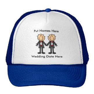Boda gay masculino a modificar para requisitos par gorras de camionero