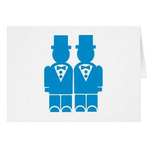 Boda gay tarjeta de felicitación