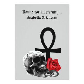 """Boda gótico del vampiro del amor eterno invitación 5"""" x 7"""""""