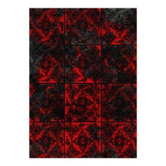 Boda gótico rojo antiguo comunicados