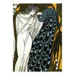 Boda griego del pavo real de la mujer de Nouveau d Invitacion Personalizada
