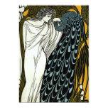 Boda griego del pavo real de la mujer de Nouveau Invitacion Personalizada