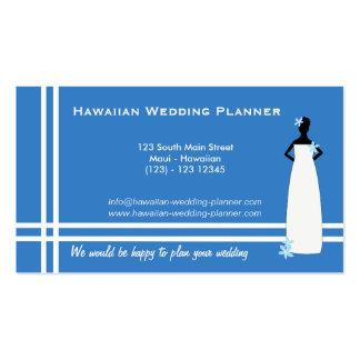 Boda hawaiano (azul) tarjetas de visita