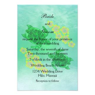 Boda hawaiano de Honu Invitacion Personalizada