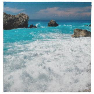 Boda hawaiano de la playa del agua de la hawaiana  servilleta