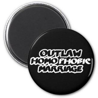 Boda homófoba proscrita imán para frigorifico