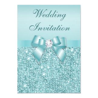 Boda impreso del arco de los diamantes de las invitación 12,7 x 17,8 cm