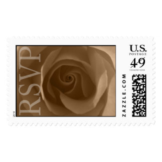 Boda Invitación Rosa RSVP Estampilla Postage