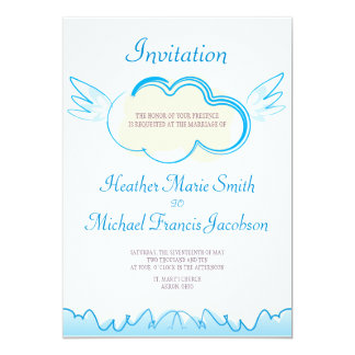 """Boda Invitation_5x7_Heaven bilateral Invitación 5"""" X 7"""""""