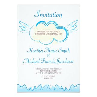 "Boda Invitation_5x7_Heaven Invitación 5"" X 7"""