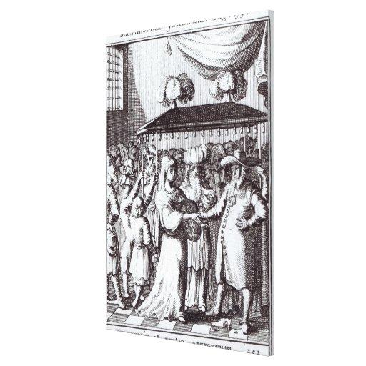 Boda judío lona envuelta para galerias