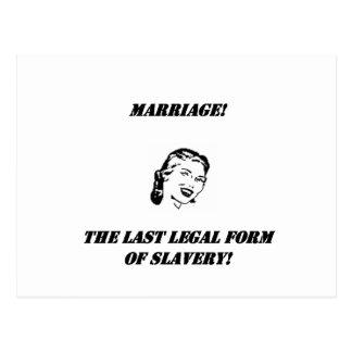 ¡boda la forma jurídica pasada de la esclavitud! tarjetas postales